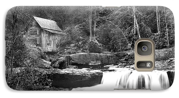 Galaxy Case featuring the photograph Grayscale Mill And Waterfall by Robert Camp