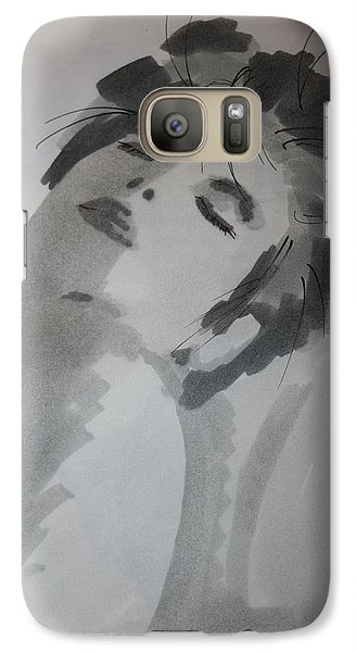 Galaxy Case featuring the drawing Graytone by Steve Godleski