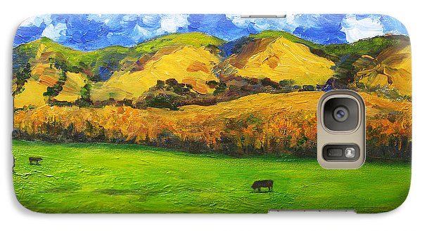 Galaxy Case featuring the painting Grazing by Cheryl Del Toro