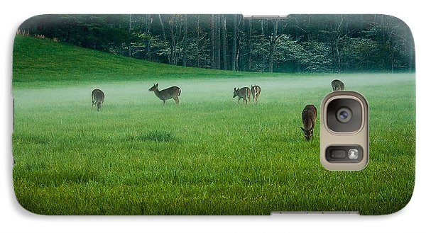 Galaxy Case featuring the photograph Grazing Deer by Jay Stockhaus
