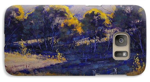Kangaroo Galaxy S7 Case - Grazing Kangaroos by Graham Gercken