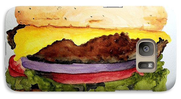 Galaxy Case featuring the painting Great Big Meal by Carol Grimes