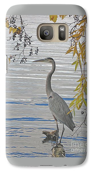 Galaxy Case featuring the photograph Great Blue Heron by Ann Horn