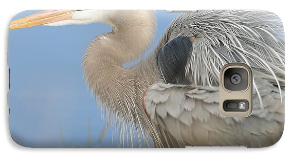 Galaxy Case featuring the photograph Great Blue Heron by Bradford Martin