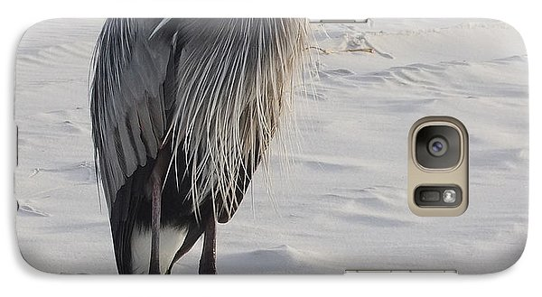Galaxy Case featuring the photograph Great Blue Heron by Deborah DeLaBarre