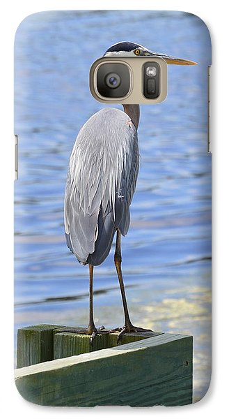 Galaxy Case featuring the photograph Great Blue Heron by Judith Morris