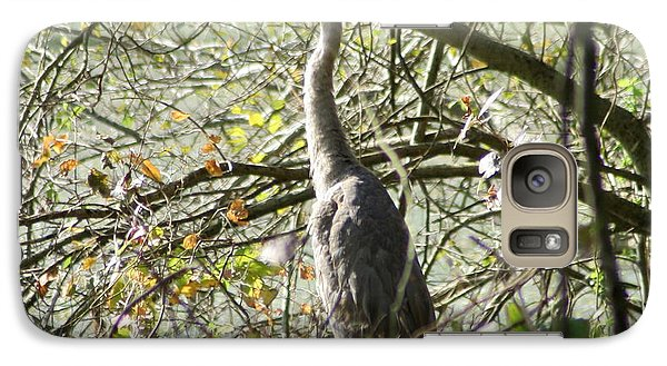 Galaxy Case featuring the photograph Great Blue Heron by Karen Silvestri