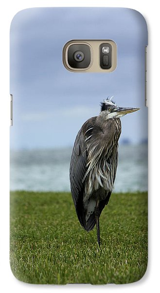 Galaxy Case featuring the photograph Great Blue Heron by Marta Alfred