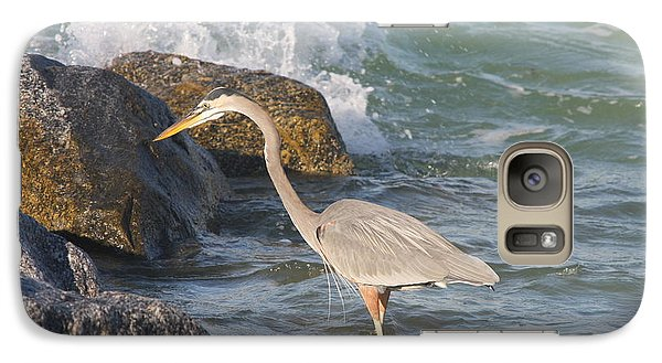 Galaxy Case featuring the photograph Great Blue Heron On The Prey by Christiane Schulze Art And Photography