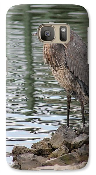 Galaxy Case featuring the photograph Great Blue Heron On Watch by Robert Banach