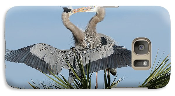 Great Blue Herons Courting Galaxy S7 Case