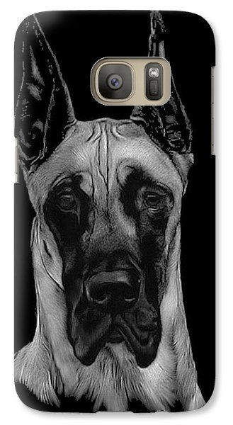 Galaxy Case featuring the drawing Great Dane by Rachel Hames