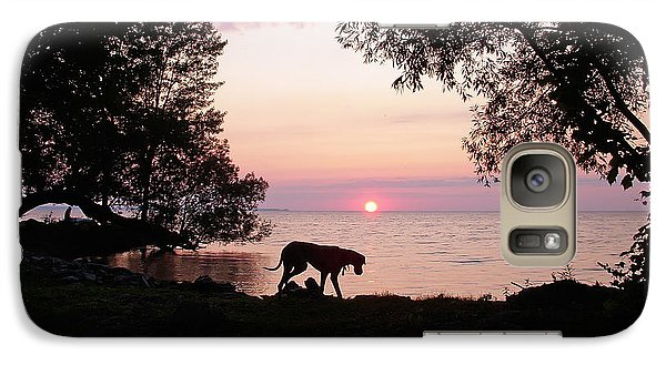 Galaxy Case featuring the photograph Great Dane Sunset by Aimee L Maher Photography and Art Visit ALMGallerydotcom