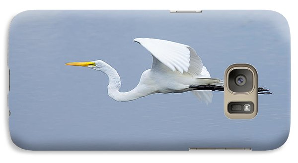 Galaxy Case featuring the photograph Great Egret In Flight by John M Bailey