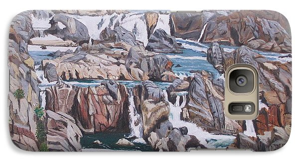 Galaxy Case featuring the painting Great Falls 1 by Hilda and Jose Garrancho