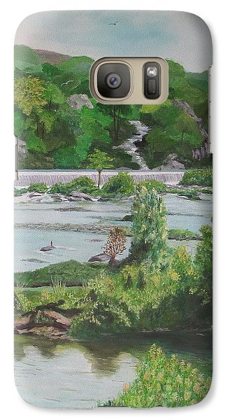 Galaxy Case featuring the painting Great Falls II by Hilda and Jose Garrancho