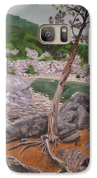 Galaxy Case featuring the painting Great Falls IIi by Hilda and Jose Garrancho