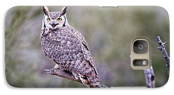 Galaxy Case featuring the photograph Great Horned Owl by Dan McManus