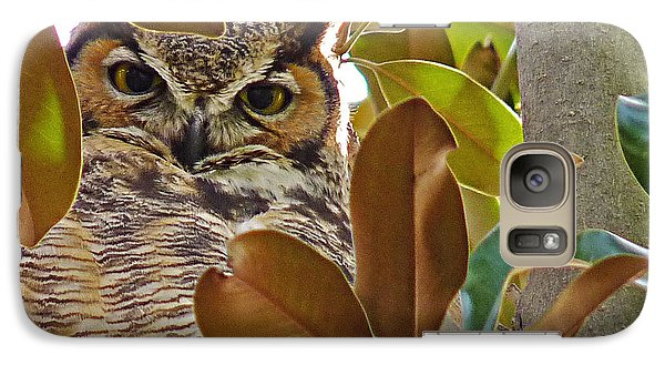 Galaxy Case featuring the photograph Great Horned Owl by Meghan at FireBonnet Art