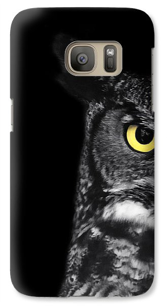 Great Horned Owl Photo Galaxy Case by Stephanie McDowell