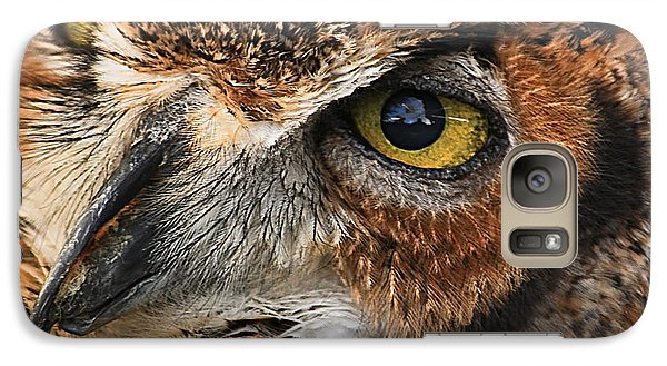 Galaxy Case featuring the photograph Great Horned Owl by Tammy Schneider
