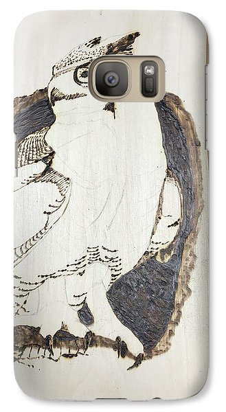 Galaxy Case featuring the digital art Great Horned Owl by Terry Frederick