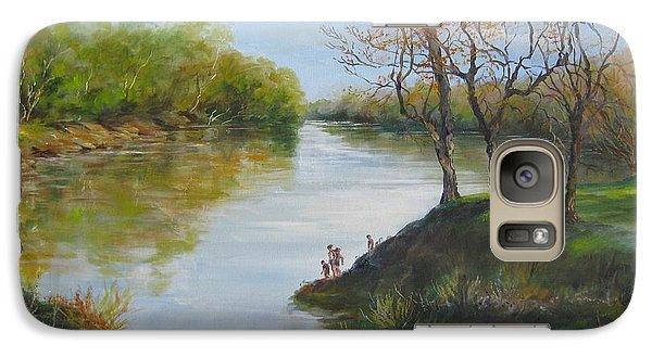 Galaxy Case featuring the painting Sold  Pee Dee River 2014 by Gloria Turner