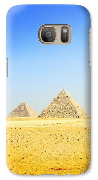 Galaxy Case featuring the photograph Great Pyramid Of Giza by Mohamed Elkhamisy