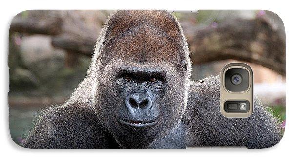 Galaxy Case featuring the photograph Great Silverback Gorilla - Sim Sim by John Black