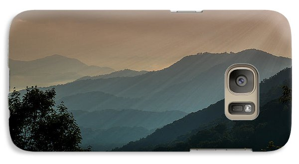 Galaxy Case featuring the photograph Great Smoky Mountains Blue Ridge Parkway by Patti Deters