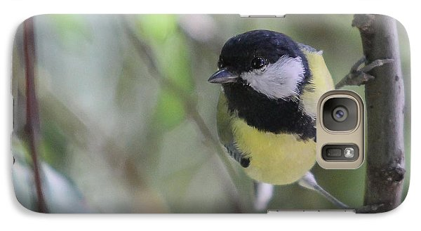 Galaxy Case featuring the photograph Great Tit - Parus Major by Jivko Nakev