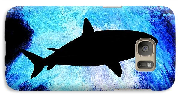 Galaxy Case featuring the painting Great White by Aaron Berg
