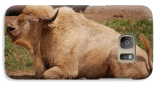 Galaxy Case featuring the photograph Great White Buffalo by Mark McReynolds