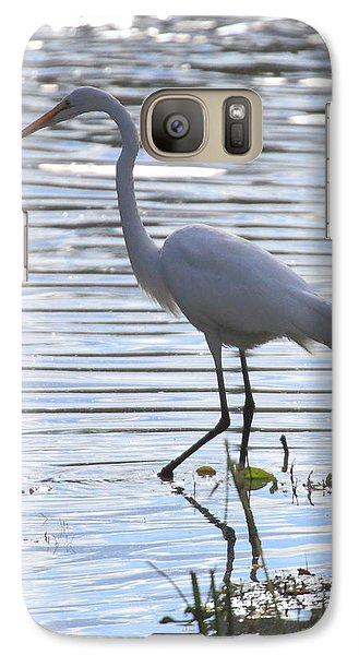 Galaxy Case featuring the photograph Great White Egret by Coby Cooper