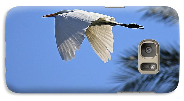 Galaxy Case featuring the photograph Great White In Flight by Penny Meyers