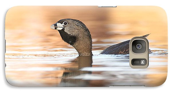 Galaxy Case featuring the photograph Grebe A Calling by Ruth Jolly