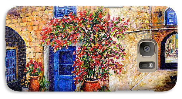 Galaxy Case featuring the painting Greek Bouganvillia by Lou Ann Bagnall