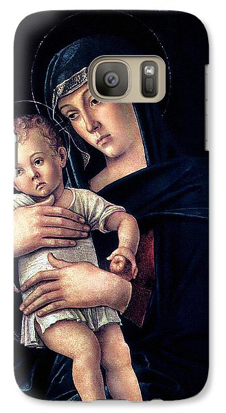 Galaxy Case featuring the painting Greek Madonna With Child 1464 Giovanni Bellini by Karon Melillo DeVega