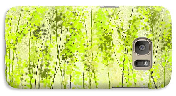 Green Abstract Art Galaxy Case by Lourry Legarde