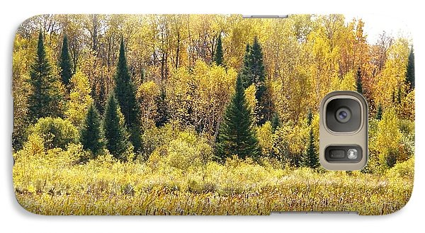 Galaxy Case featuring the photograph Green Amongst The Gold by Susan Crossman Buscho