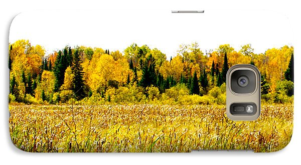 Galaxy Case featuring the photograph Green Amongst The Gold2 by Susan Crossman Buscho