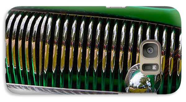 Galaxy Case featuring the photograph Green And Chrome Teeth by Mick Flynn