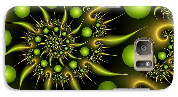 Galaxy Case featuring the digital art Green And Gold by Gabiw Art