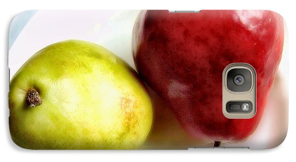 Galaxy Case featuring the photograph Green And Red Pears Still Life by Louise Kumpf