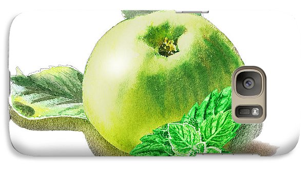 Galaxy Case featuring the painting Green Apple And Mint Happy Union by Irina Sztukowski
