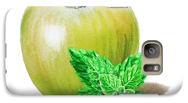 Galaxy Case featuring the painting Green Apple And Mint by Irina Sztukowski