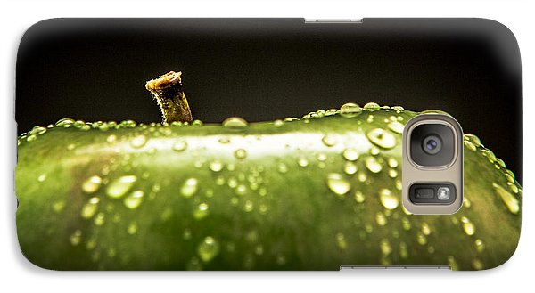 Galaxy Case featuring the photograph Green Apple by Wade Brooks