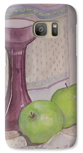 Galaxy Case featuring the painting Green Apples by Carol Flagg