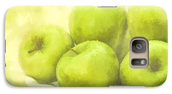 Galaxy Case featuring the photograph Green Apples by Linda Blair