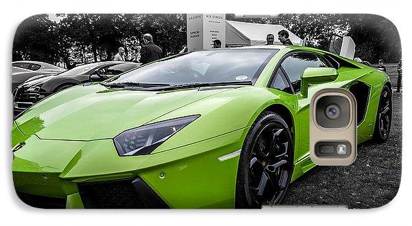 Galaxy Case featuring the photograph Green Aventador by Matt Malloy